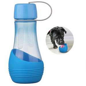 valigia per il cane bottiglia acqua