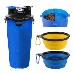 ciotola da viaggio con dispenser acqua e cibo