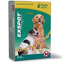 exspot pipette antiparassitari per cani di tutte le taglie