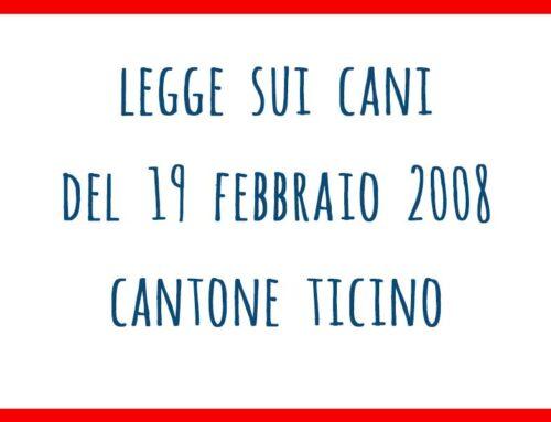 Legge sui cani del 19 febbraio 2008 – Canton Ticino